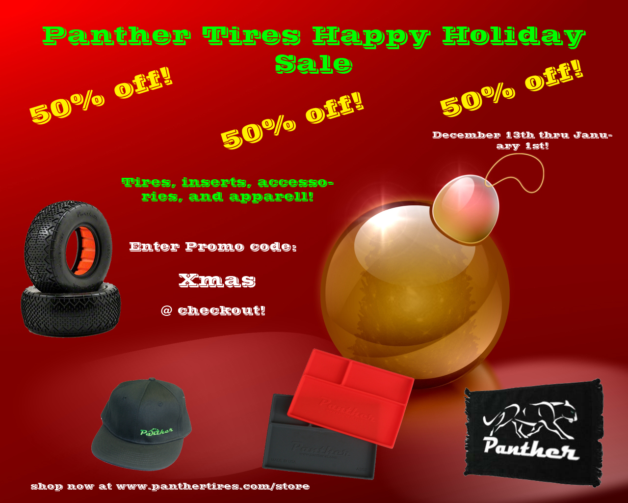Panther Tires Holiday Sale